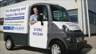 Fife Shopping and Support Services van