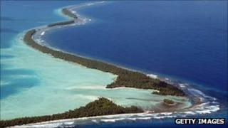 Funafuti Atoll is home to nearly half of Tuvalu's population of 11,000