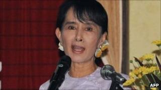 Aung San Suu Kyi, pictured on 27 September 2011