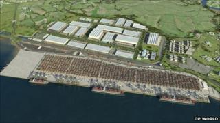Artist's impression of the London Gateway project when complete