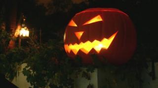 Jack-o-lantern made from pumpkin
