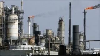 An oil refinery in Texas, USA