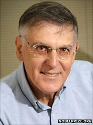 Shechtman (Credit: Nobelprize.org)