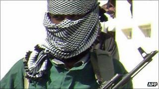 An al-Shabab fighter in Mogadishu (archive shot).