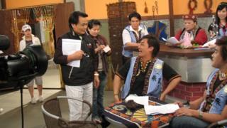 Indigenous TV station studio
