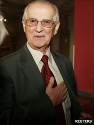 Ramiz Alia, the last communist President of Albania, September 2006