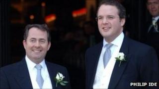 Defence Secretary Liam Fox with his best man Adam Werritty