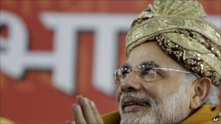 Narendra Modi in September 2011
