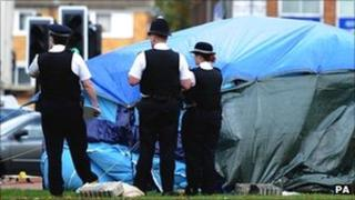 The scene of the stabbing in Bexleyheath