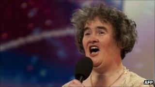 Susan Boyle on Britain's Got Talent in 2009