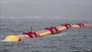 Pelamis wave power device. Pic: Pelamis