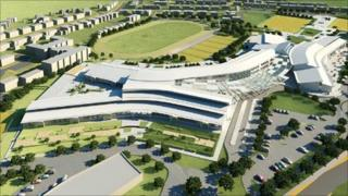 An artist's impression of how the new St Cyres and special schools development would look