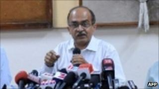 Prashant Bhushan in September 2011