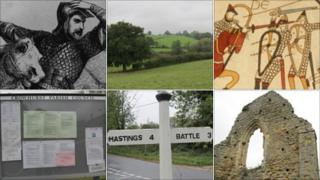 William the Conqueror, Crowhurst, Bayeux tapestry, Crowhurst Manor, road sign, parish council noticeboard