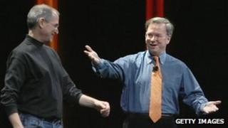 Steve Jobs and Eric Schmidt
