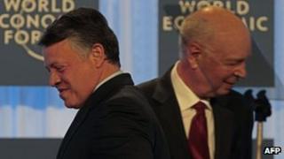 King Abdullah II and Klaus Schwab