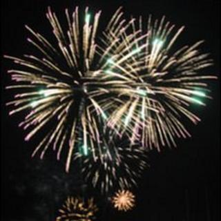 Fireworks in Guernsey on Liberation Day 2011