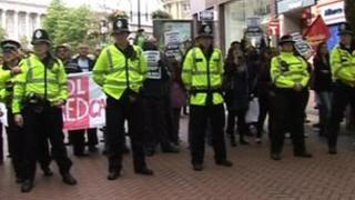 Scenes from the last EDL demo in Birmingham