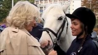 The Duchess of Cornwall opens the Ebony Riding Club