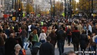 Busy UK street