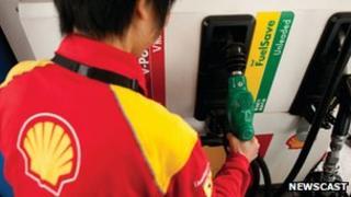 Shell petrol pump attendant