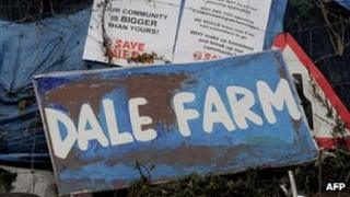 Travellers were evicted from Dale Farm, near Basildon, on October 19