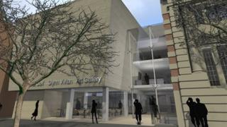 An artist's impression of how the new Glynn Vivian art gallery will look
