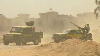 Libyan rebel forces in Tawargha in August 2011