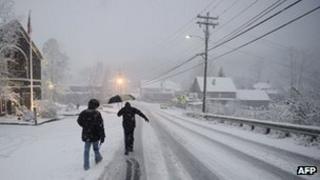 Snow in Vermont