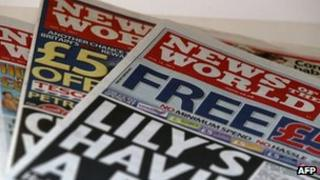News of the World newspapers