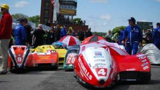 Sidecars at the TT races