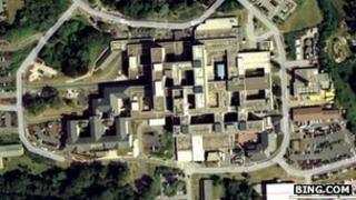 Aerial view of Derriford Hospital