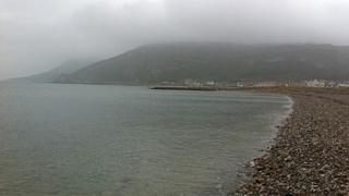 Llandudno west shore on Tuesday