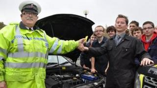 Cars handed over to South Essex College students