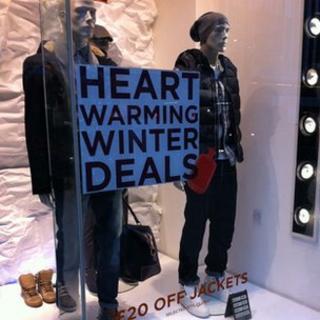 Showroom dummies advertising sales