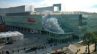 The Westfield London shopping centre at Shepherd's Bush