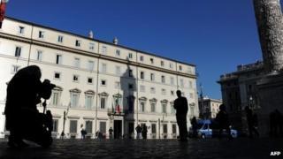 Italian prime minister's office, Rome (10 Nov 2011)