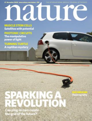 Nature journal cover (Image: Nature)