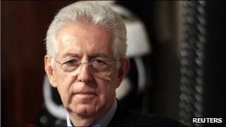 Newly appointed Prime Minister Mario Monti