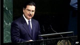 Alfonso Portillo at the UN in 2001