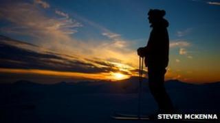 Skier at Glencoe. Pic: Steven McKenna