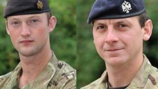 Lt David Boyce and L/Cpl Richard Scanlon