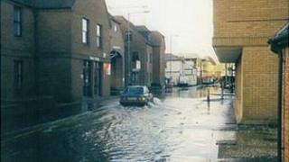 Flooding in Newbury at Northcroft Lane