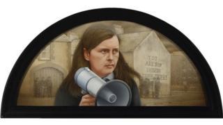 The 'Battle of the Bogside' painting of Bernadette Devlin