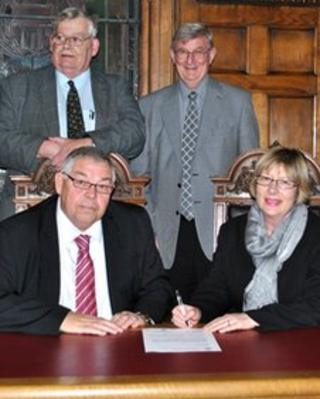 (Standing left), Councillor Richard Leggott and Councillor Peter Bedford, (seated) Councillor Paul Kenny and Councillor Helen Staples