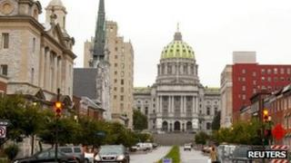 Pennsylvania state capitol, Harrisburg, 12 October 2011