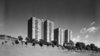 Tower blocks at Park Hill, Sheffield