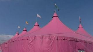 Maes pink pavilion