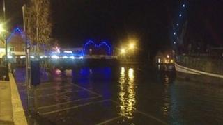 Wells-next-the-Sea flooded, 27 November 2011
