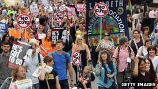 People striking